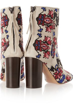 ISABEL MARANT Guya embroidered suede boots
