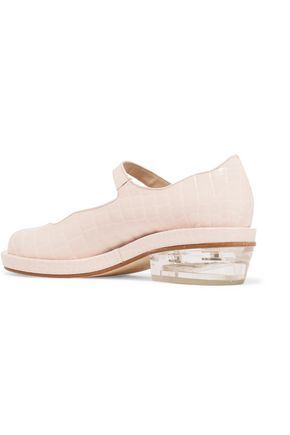SIMONE ROCHA Mary-Jane croc-effect leather brogues