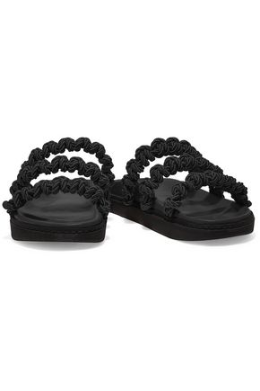 SIMONE ROCHA Macramé and leather slides