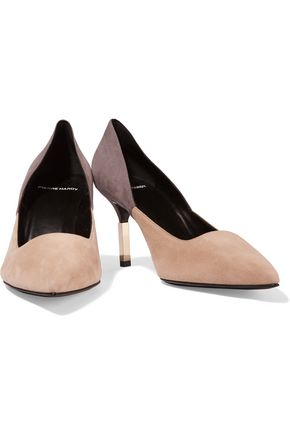 PIERRE HARDY Two-tone suede pumps
