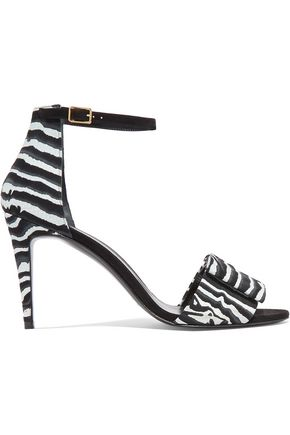 PIERRE HARDY Bow-embellished printed nubuck sandals
