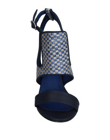 Фото 2 - Женские сандали SGN GIANCARLO PAOLI темно-синего цвета