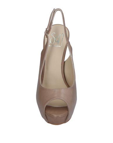 Фото 2 - Женские сандали SGN GIANCARLO PAOLI серого цвета