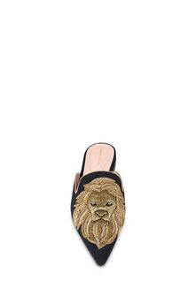 ALBERTA FERRETTI Mia Mules with gold lion Mia Mule Woman d