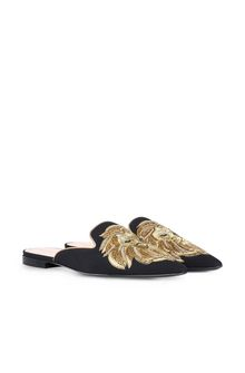 ALBERTA FERRETTI Mia Mules with gold lion Mia Mule Woman f