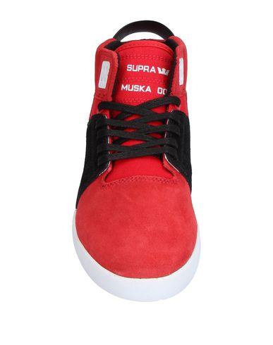Фото 2 - Высокие кеды и кроссовки красного цвета
