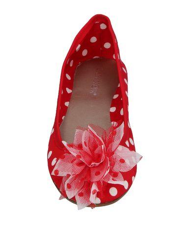 Фото 2 - Женские балетки  красного цвета