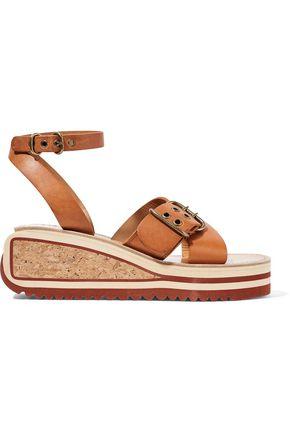 ISABEL MARANT ÉTOILE Zena leather wedge sandals