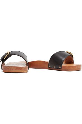 ISABEL MARANT ÉTOILE Tadley buckled leather slides