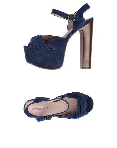 Фото - Женские сандали JEFFREY CAMPBELL темно-синего цвета
