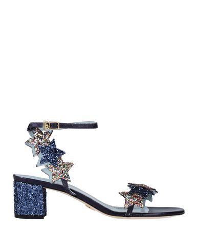 Фото - Женские сандали CHIARA FERRAGNI темно-синего цвета