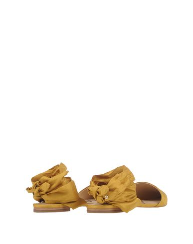Фото 2 - Женские сандали  цвет охра