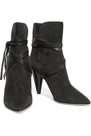 ISABEL MARANT Nerys leather-trimmed suede ankle boots