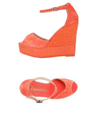 Фото - Женские сандали ESPADRILLES кораллового цвета