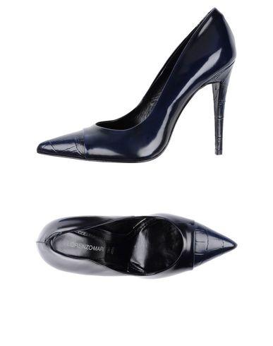 Фото - Женские туфли LORENZO MARI темно-синего цвета