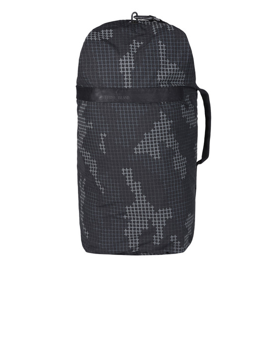 STONE ISLAND Backpack 930E3 FULL COMPACT RIP STOP SI CHECK GRID CAMO