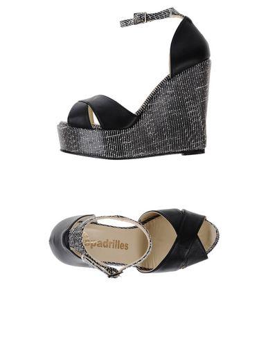 Фото - Женские сандали ESPADRILLES черного цвета