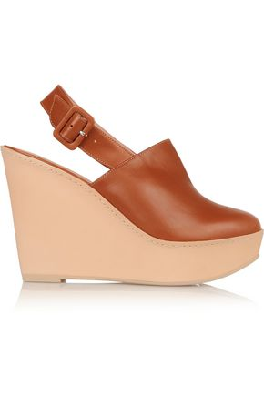 ROBERT CLERGERIE French leather wedge pumps