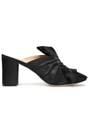 IRIS & INK Gathered satin mules