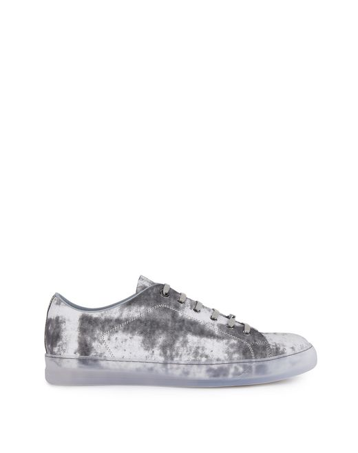 lanvin cloud-effect calfskin sneaker men