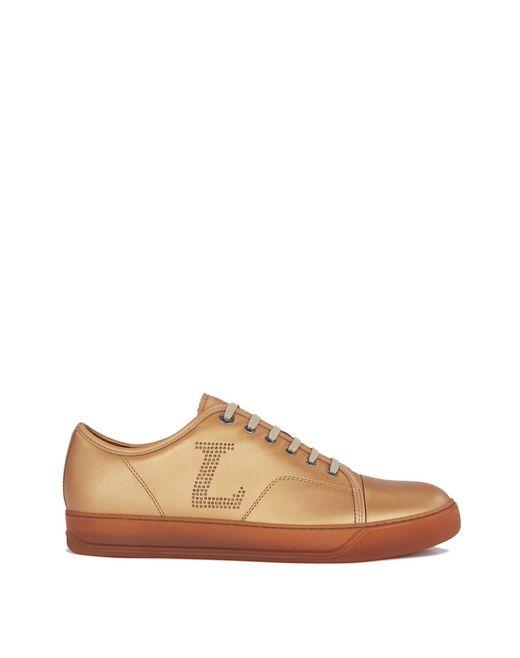 lanvin metallic calfskin sneaker men