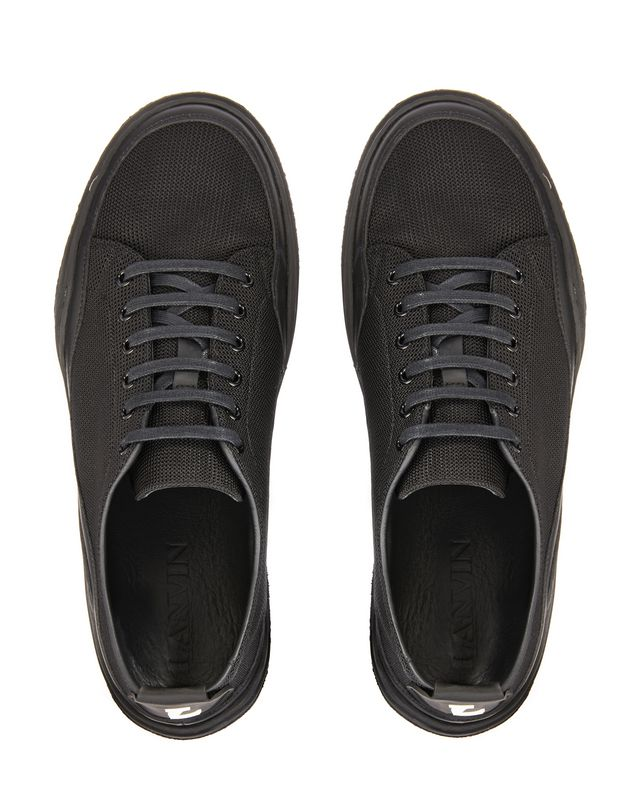 LANVIN HERRINGBONE CANVAS DIVING SNEAKER Sneakers U a