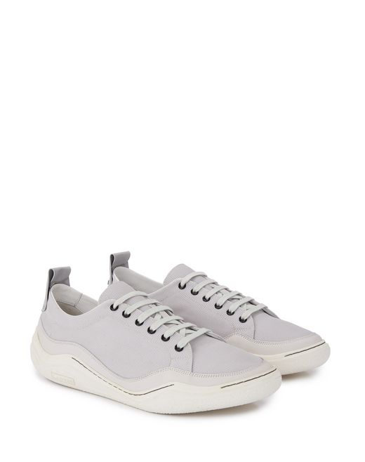 lanvin herringbone canvas diving sneaker men