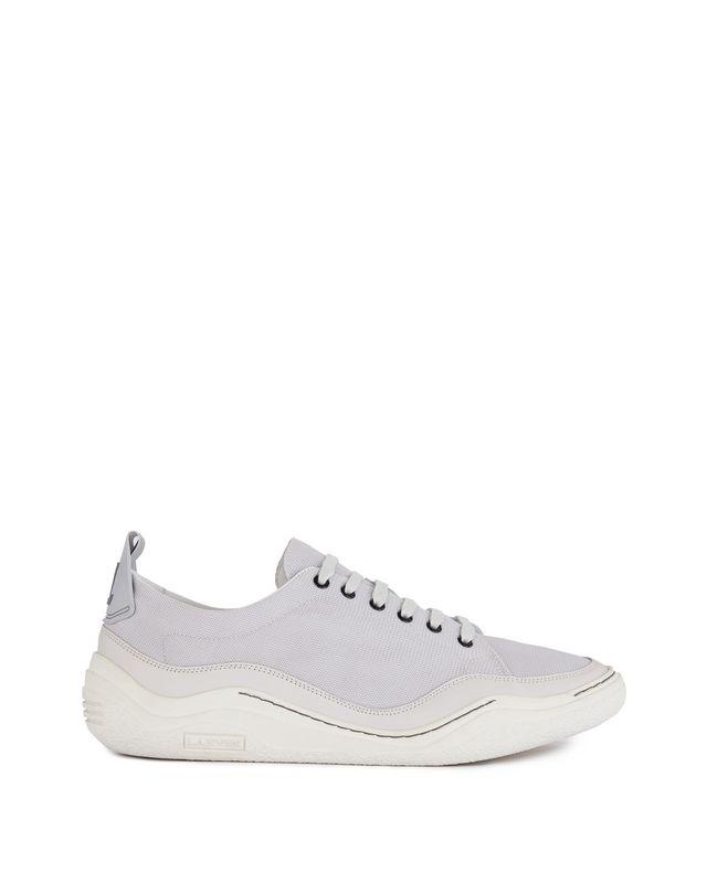 LANVIN HERRINGBONE CANVAS DIVING SNEAKER Sneakers U f