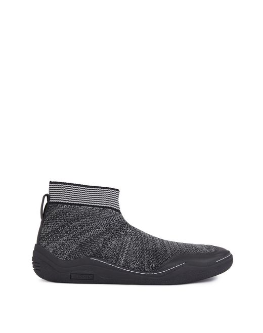 lanvin knitted high-top diving sneaker men