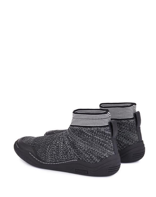LANVIN KNITTED HIGH-TOP DIVING SNEAKER Sneakers U d