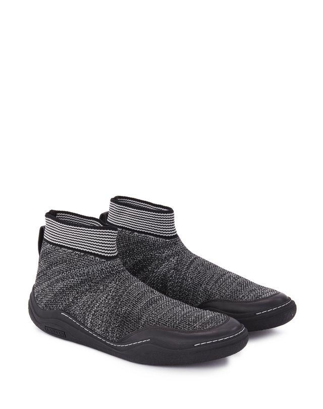 LANVIN KNITTED HIGH-TOP DIVING SNEAKER Sneakers U r