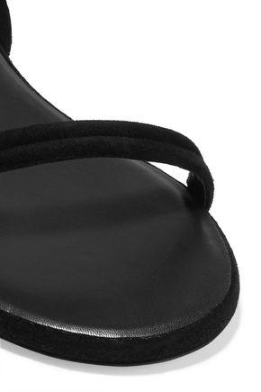 ISABEL MARANT Astrid tasseled leather-trimmed suede sandals
