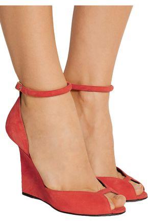 PIERRE HARDY Arp suede wedge sandals