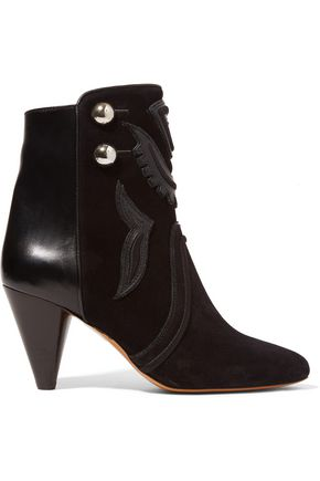 ISABEL MARANT Lola suede and leather ankle boots