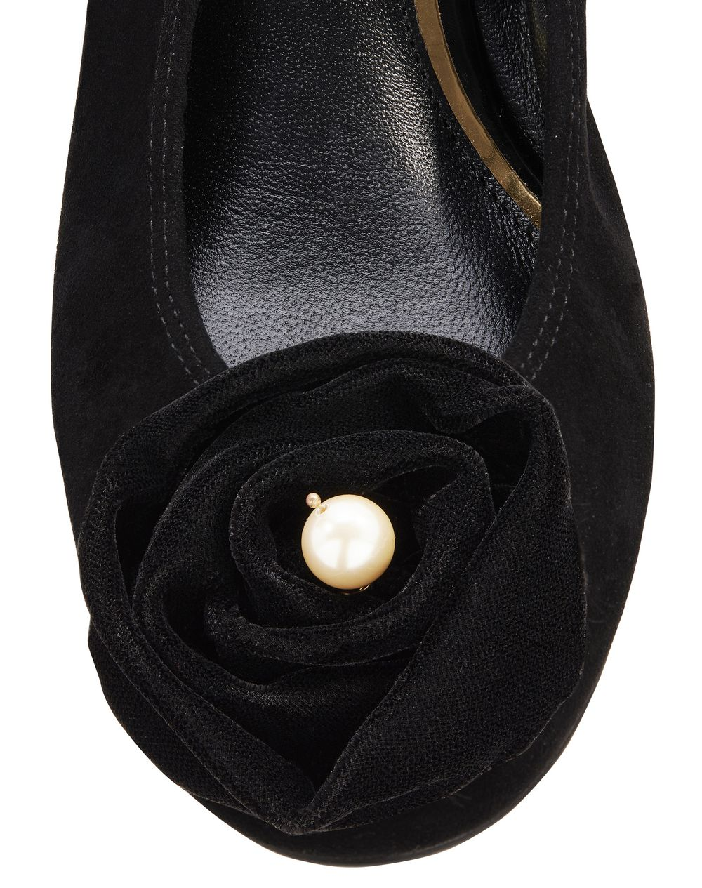 EMBROIDERED FLOWER BALLET FLAT - Lanvin