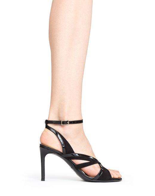 lanvin crossover heeled sandal women