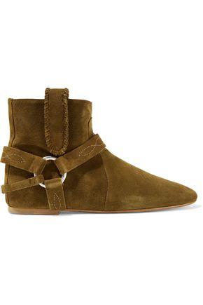ISABEL MARANT ÉTOILE Ralf embellished suede ankle boots