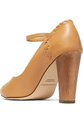 VANESSA SEWARD Cory whipstitched leather pumps
