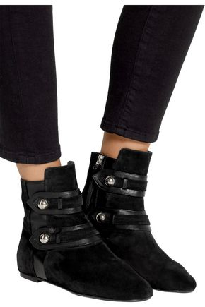 ISABEL MARANT ÉTOILE Roddy leather-trimmed suede ankle boots