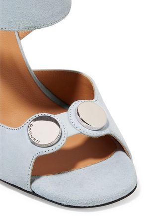 CARVEN Embellished suede sandals