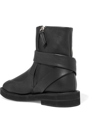 CARVEN Officier leather ankle boots