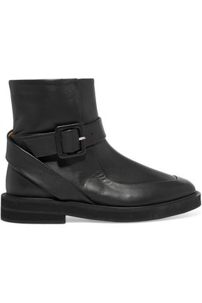 CARVEN Officier leather ankle boots