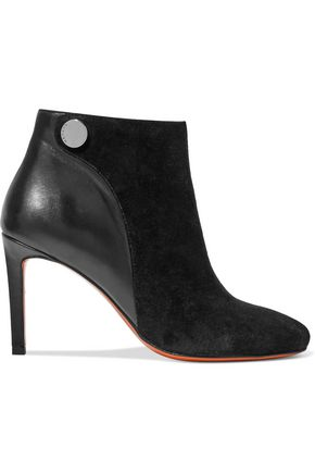 CARVEN Suede and leather ankle boots