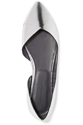ISABEL MARANT ÉTOILE Penn metallic leather point-toe flats