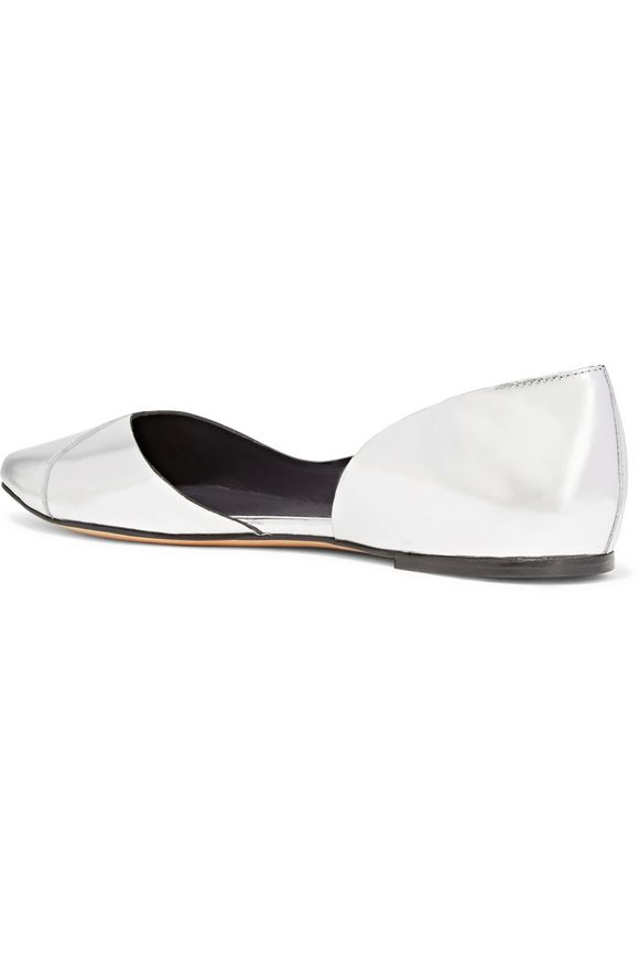 Penn metallic leather point-toe flats | ISABEL MARANT ÉTOILE | Sale up to 70%  off | THE OUTNET