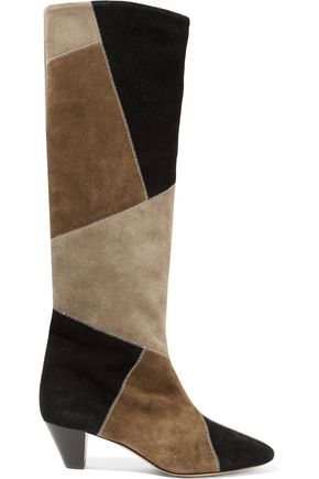 d683a3606f Patchwork suede boots | ISABEL MARANT ÉTOILE | Sale up to 70% off ...
