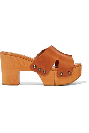 ROBERT CLERGERIE Cetri leather platform sandals