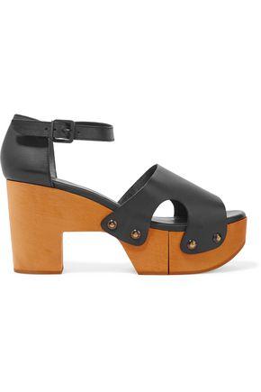 ROBERT CLERGERIE Cevina cutout leather platform sandals