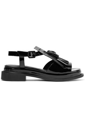 ROBERT CLERGERIE Coco fringed patent-leather sandals