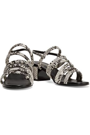 ROBERT CLERGERIE Eolia snake-effect leather sandals